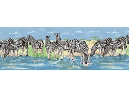 Prepasted Wallpaper Borders - Animals Wall Paper Border NK74872