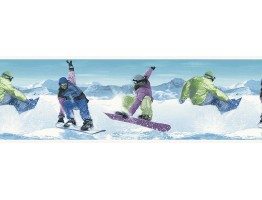 Prepasted Wallpaper Borders - Skate Wall Paper Border B74880