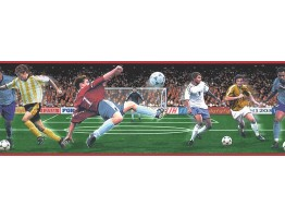 7 in x 15 ft Prepasted Wallpaper Borders - Football Wall Paper Border B74884