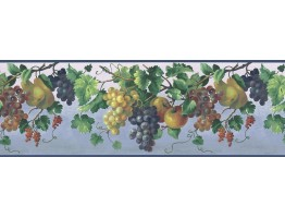 Prepasted Wallpaper Borders - Fruits Wall Paper Border KT74974
