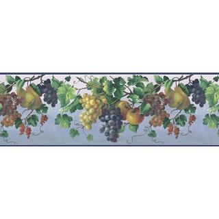 10 1/2 in x 15 ft Prepasted Wallpaper Borders - Fruits Wall Paper Border KT74974