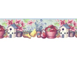 Prepasted Wallpaper Borders - Kitchen Wall Paper Border B74988