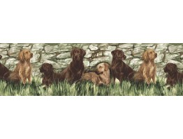 Prepasted Wallpaper Borders - Dogs Wall Paper Border TM75053