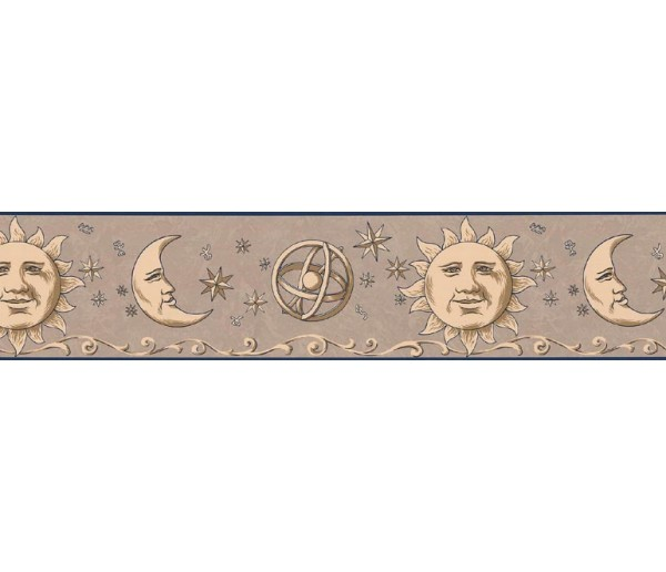 Sun Moon Stars Wall Borders: Sun, Moon and Stars Wallpaper Border TM75056