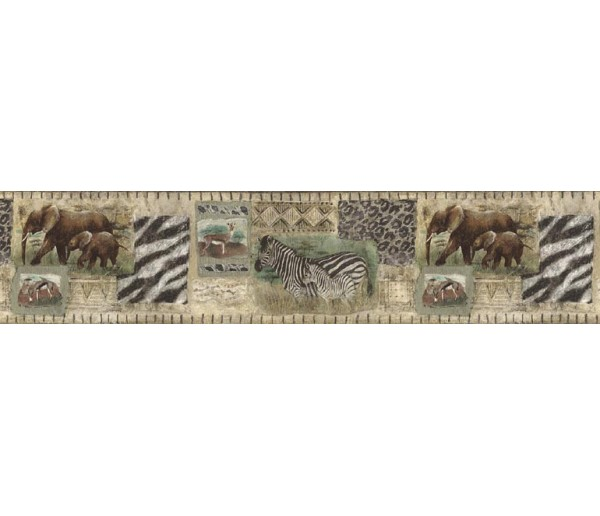 Jungle Wallpaper Borders: Elepant Wallpaper Border B75057