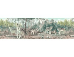 9 in x 15 ft Prepasted Wallpaper Borders - Animals Wall Paper Border TM75067