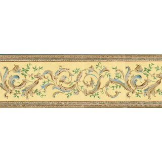9 in x 15 ft Prepasted Wallpaper Borders - Contemporary Wall Paper Border BAR7506B
