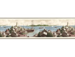 Prepasted Wallpaper Borders - Ships Wall Paper Border TM75075