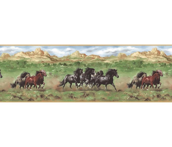 Horses Wallpaper Borders: Horses Wallpaper Border TM75077