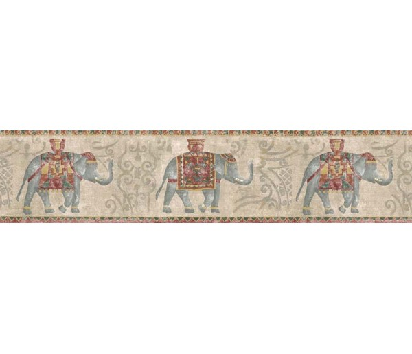Animal Wallpaper Borders: Elepant Wallpaper Border B75374