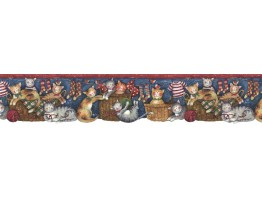 Prepasted Wallpaper Borders - Cats Wall Paper Border FP75407DC