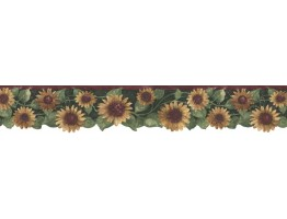 4 7/8 in x 15 ft Prepasted Wallpaper Borders - Sunflowers Wall Paper Border B75416