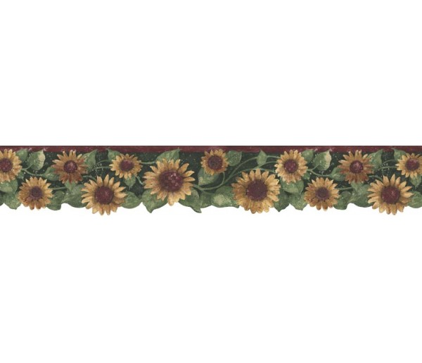 Clearance: Sunflowers Wallpaper Border B75416