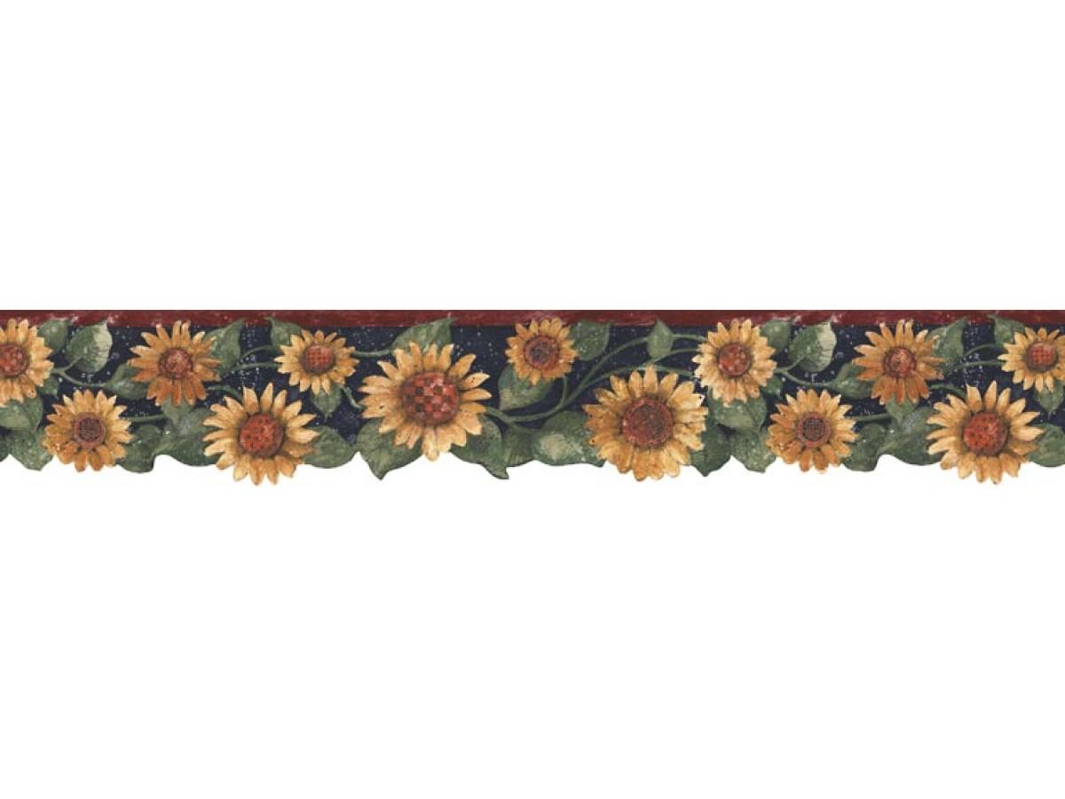 Sunflowers Wallpaper Border B75417