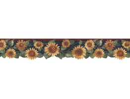 Prepasted Wallpaper Borders - Sunflowers Wall Paper Border B75417
