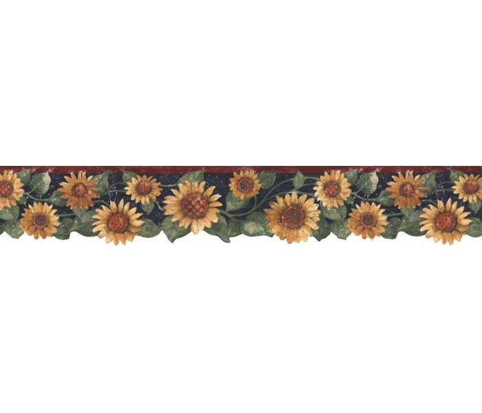 Sunflower Wallpaper Borders: Sunflowers Wallpaper Border B75417