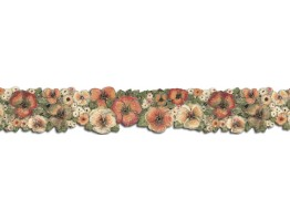 4 in x 15 ft Prepasted Wallpaper Borders - Hibiscus Wall Paper Border FP75430DC