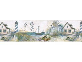 Prepasted Wallpaper Borders - Light House Wall Paper Border FP75434L