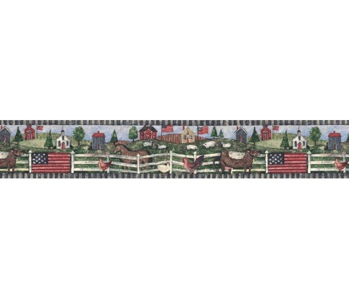 Clearance: Country Wallpaper Border FP75443