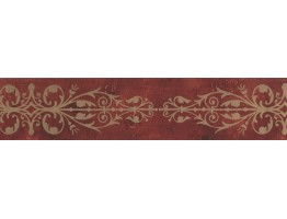 Prepasted Wallpaper Borders - Contemporary Wall Paper Border SS75489