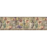 Clearance: Fruits and Flowers Wallpaper Border KB75531