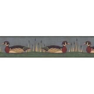 7 in x 15 ft Prepasted Wallpaper Borders - Ducks Wall Paper Border AP75652