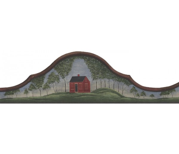 Clearance: Country Wallpaper Border B75662