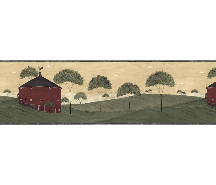 Clearance: Country Wallpaper Border AP75681