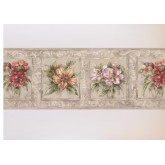Floral Borders Floral Wallpaper Border HB75709 S.A.MAXWELL CO.