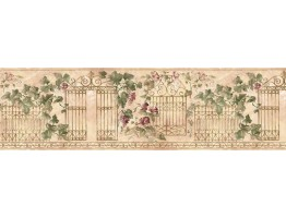 Prepasted Wallpaper Borders - Floral Wall Paper Border HB75719