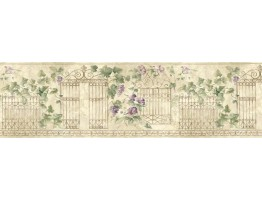 Prepasted Wallpaper Borders - Floral Wall Paper Border HB75720
