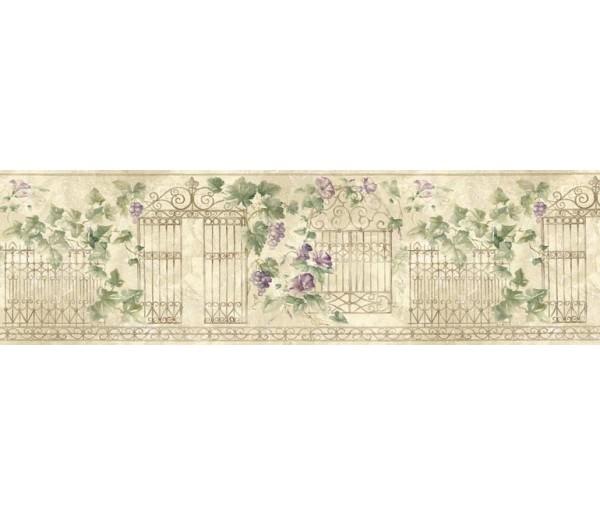 Prepasted Wallpaper Borders - Floral Wall Paper Border HB75720
