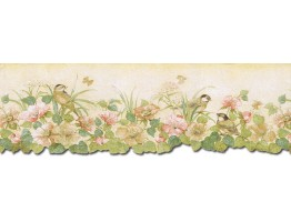 6 7/8 in x 15 ft Prepasted Wallpaper Borders - Birds Wall Paper Border b75746