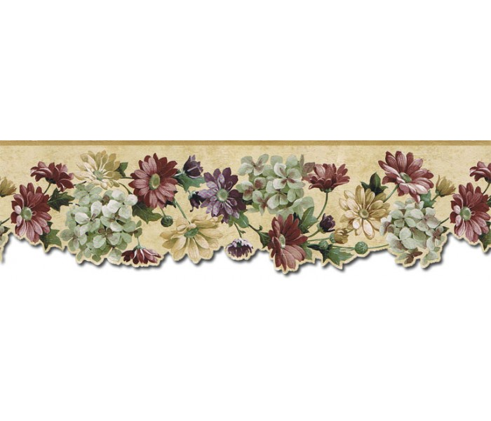 Floral Wallpaper Borders: Floral Wallpaper Border b75751