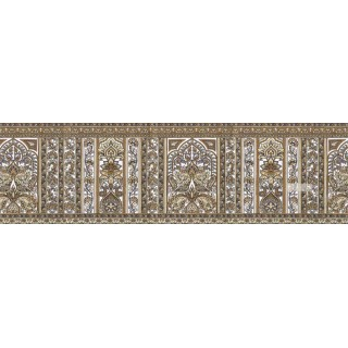 7 in x 15 ft Prepasted Wallpaper Borders - Floral Wall Paper Border b75783