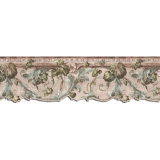 9 in x 15 ft Prepasted Wallpaper Borders - Leaves Wall Paper Border B75850DC