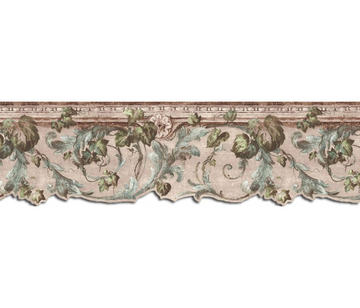 Clearance: Leaves Wallpaper Border B75850DC