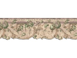 9 in x 15 ft Prepasted Wallpaper Borders - Leaves Wall Paper Border B75851DC