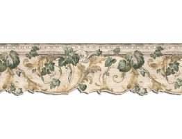 9 in x 15 ft Prepasted Wallpaper Borders - Leaves Wall Paper Border B75852DC