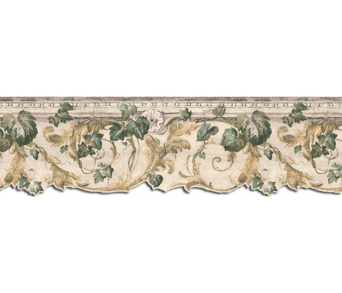 Garden Wallpaper Borders: Leaves Wallpaper Border B75852DC
