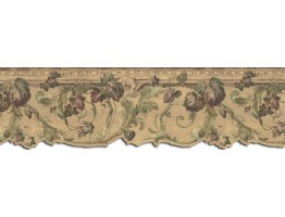 Prepasted Wallpaper Borders - Leaves Wall Paper Border B75853DC