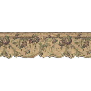 9 in x 15 ft Prepasted Wallpaper Borders - Leaves Wall Paper Border B75853DC
