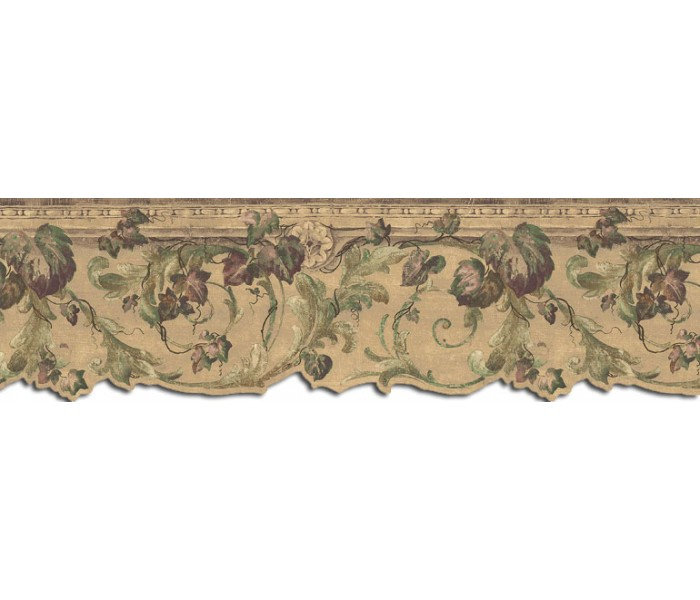 Clearance: Leaves Wallpaper Border B75853DC