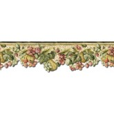 Clearance: Fruits and Flowers Wallpaper Border KA75858DC