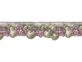 7 in x 15 ft Prepasted Wallpaper Borders - Fruits Wall Paper Border B75864DC