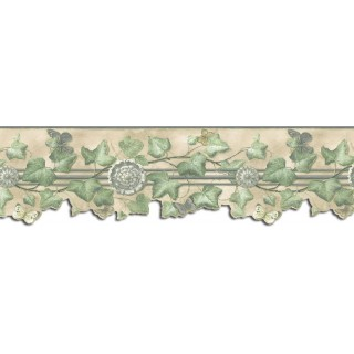 9 in x 15 ft Prepasted Wallpaper Borders - Butterfly Wall Paper Border B75870DC