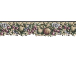 Prepasted Wallpaper Borders - Fruits Wall Paper Border B75874DC