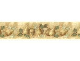 Prepasted Wallpaper Borders - Pear Fruits Wall Paper Border KA75877