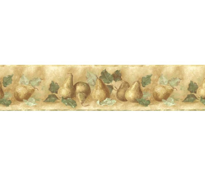 Clearance: Pear Fruits Wallpaper Border KA75877