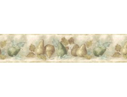 Prepasted Wallpaper Borders - Pear Fruits Wall Paper Border B75879